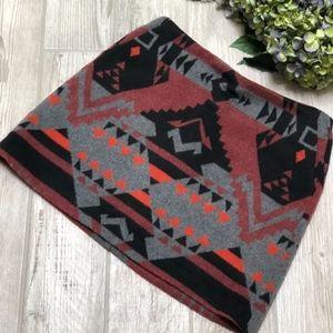 GAP Aztec Southwestern Blanket Mini Skirt EUC